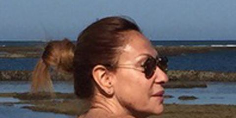 Eyewear, Body of water, Glasses, Ear, Vision care, Fun, Hairstyle, Coastal and oceanic landforms, Sunglasses, Photograph,