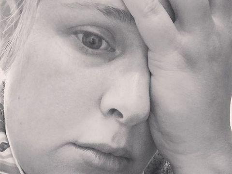 Lip, Cheek, Eye, Skin, Forehead, Eyebrow, Eyelash, Jaw, Monochrome photography, Organ,
