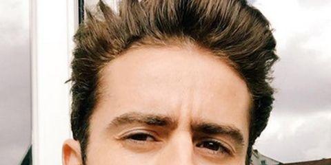 Facial hair, Cheek, Mouth, Eye, Hairstyle, Chin, Forehead, Eyebrow, Collar, Eyelash,