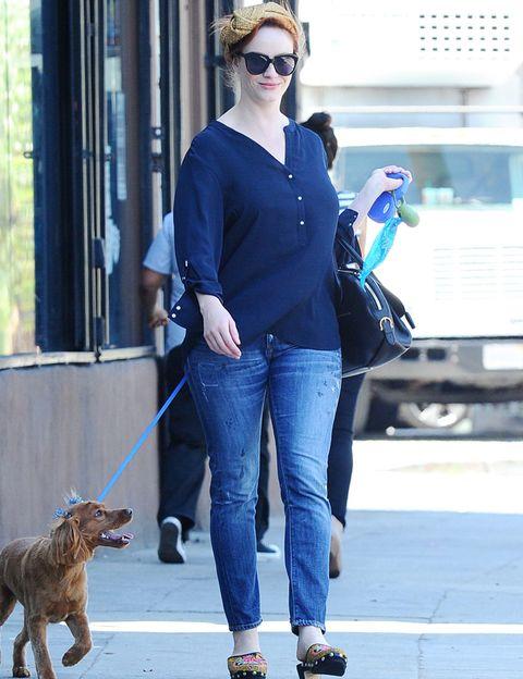 Eyewear, Dog breed, Glasses, Trousers, Denim, Jeans, Dog, Bag, Outerwear, Carnivore,