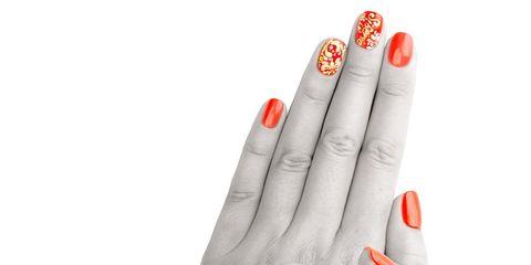 Finger, Skin, Red, Nail, White, Nail care, Style, Manicure, Nail polish, Black,