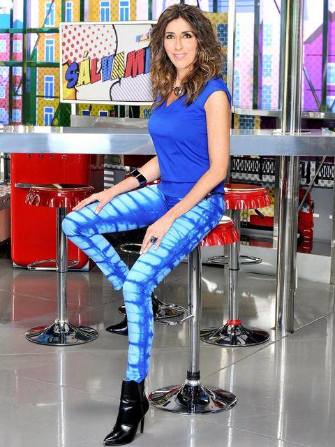 Blue, Denim, Shirt, Shoe, Style, Electric blue, Majorelle blue, Fashion, High heels, Cobalt blue,