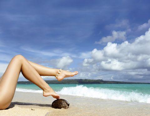 Body of water, Blue, Human leg, Coastal and oceanic landforms, People in nature, Summer, Toe, Shore, Aqua, Beach,