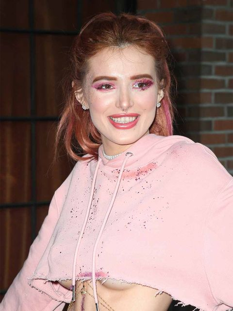 Hair, Face, Pink, Lip, Beauty, Skin, Fashion, Hairstyle, Blond, Dress,