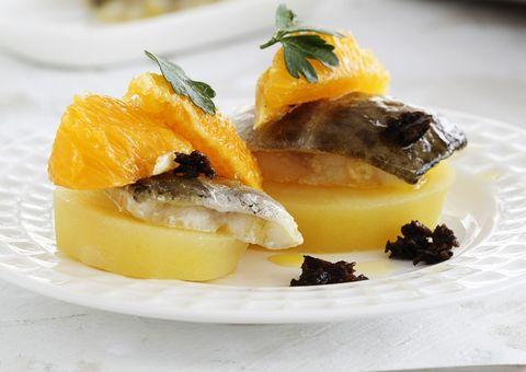 recetabacalao fresco con naranja y tapenade