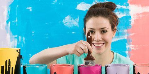 Paint, Tooth, Eyelash, Magenta, Aqua, Material property, Brown hair, Lipstick, Bun, Cosmetics,