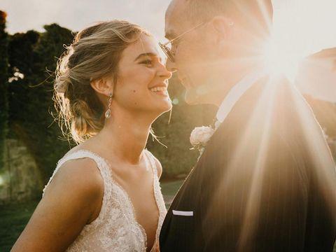 Photograph, Backlighting, Romance, Beauty, Wedding dress, Bride, Bridal veil, Veil, Bridal accessory, Dress,