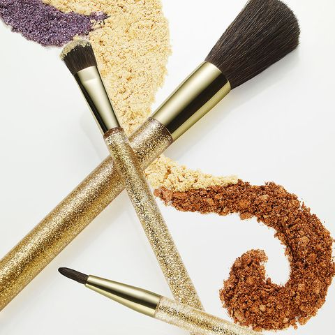 Product, Brown, Brush, Beige, Makeup brushes, Cosmetics, Spice, Glitter, Powder, Personal care,