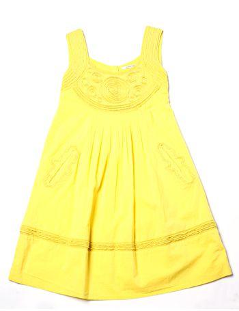 Product, Yellow, Textile, White, One-piece garment, Pattern, Amber, Orange, Dress, Fashion,