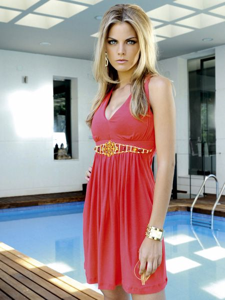 Clothing, Shoulder, Dress, Joint, Red, Waist, Style, One-piece garment, Flooring, Beauty,