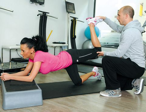 Arm, Leg, Human leg, Shoulder, Exercise, Wrist, Shoe, Joint, Room, Elbow,