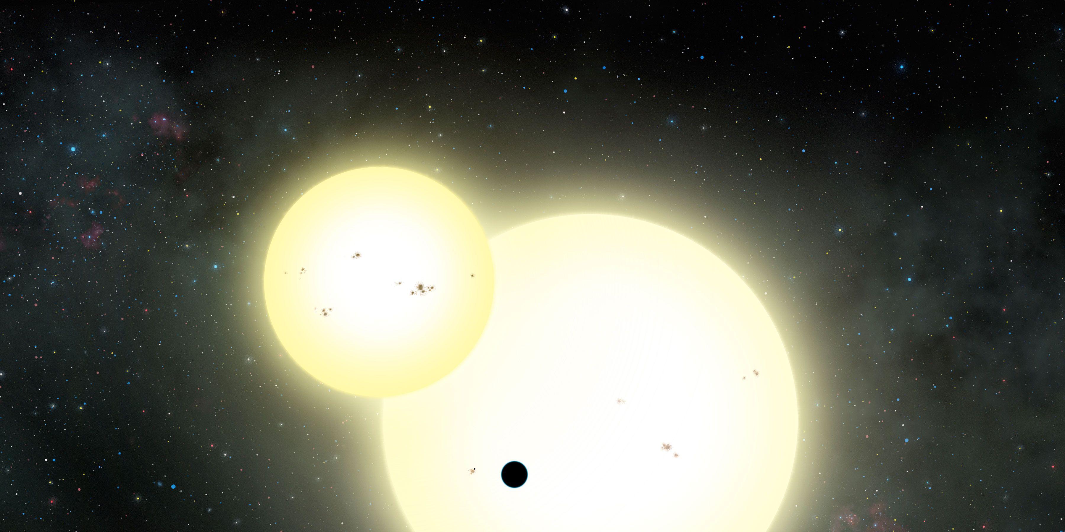 Descubierto el planeta más grande que orbita dos soles