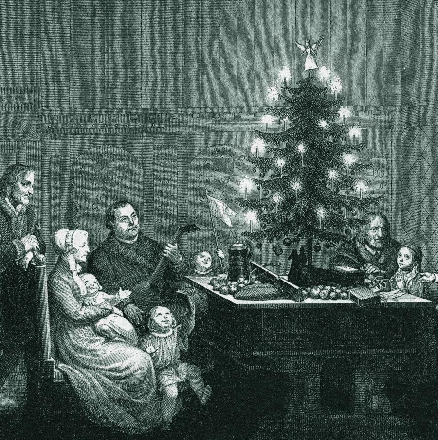 Origen del arbol de navidad martin lutero