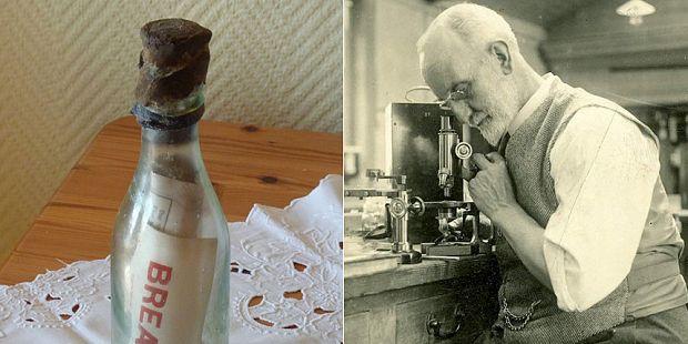 ¿Qué dice el mensaje oculto en una botella más viejo del mundo?