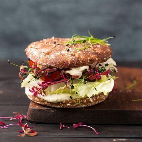 Dish, Food, Cuisine, Ingredient, Breakfast sandwich, Produce, Recipe, Veggie burger, Finger food, Baked goods,