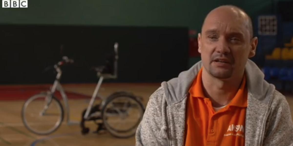 ¿Montar en bicicleta siendo paralítico? Challenge accepted!
