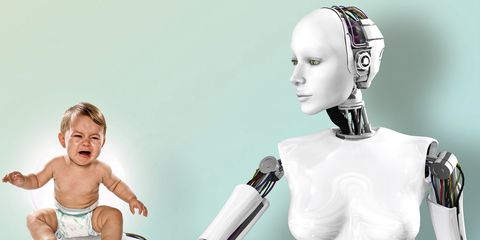 Resultado de imagen de futuro en el que los robots cuidaran a nuestros niños