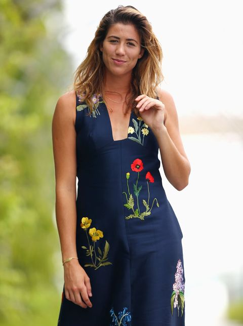 Clothing, Arm, Shoulder, Dress, Joint, People in nature, Summer, One-piece garment, Day dress, Beauty,