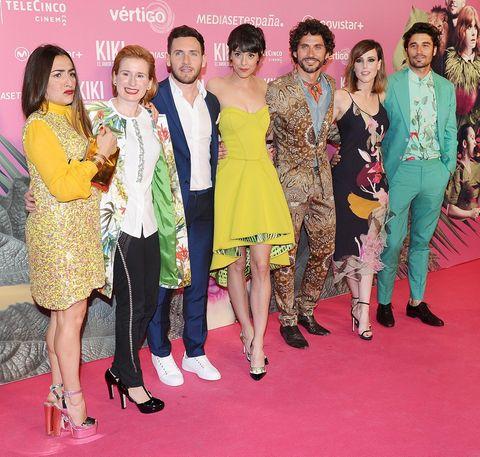 Footwear, Head, Human, Trousers, Flooring, Dress, Carpet, Pink, Style, Magenta,