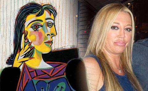 Face, Nose, Head, Painting, Cheek, Art, Yellow, Chin, Visual arts, Modern art,