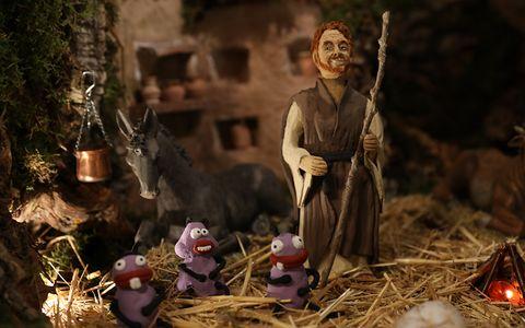 Nativity scene, Interior design,