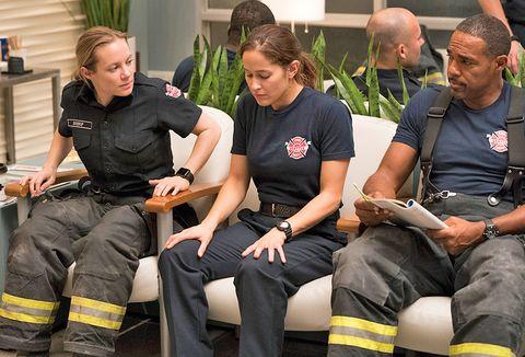 Sitting, Emergency service, Service, Workwear, Lap, Job, Law enforcement, Crew, Houseplant, Boot,
