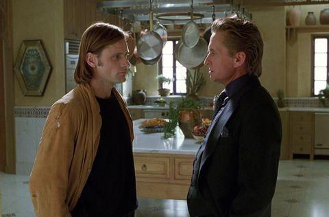 Un crimen perfecto (1998) Michael Douglas y Viggo Mortensen