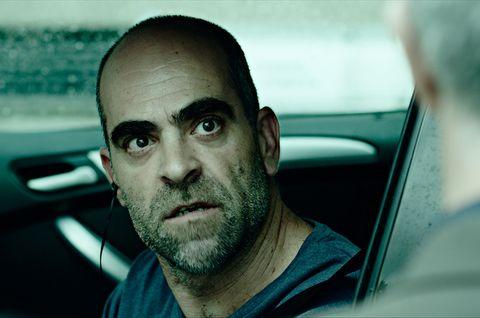Face, Facial hair, Head, Forehead, Beard, Vehicle door, Eye, Driving, Luxury vehicle, Photography,