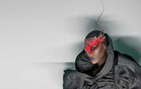 Red, Head, Headgear, Outerwear, Photography, Neck, Ear,