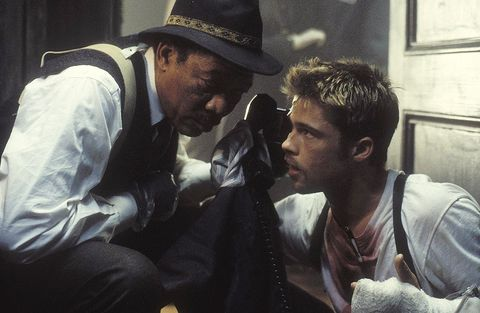 Seven (Se7en) (1995) Morgan Freeman y Brad Pitt