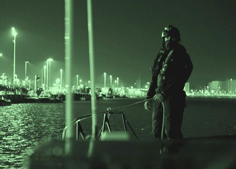 Water, Green, Light, Night, Urban area, Standing, City, Sky, Photography, Darkness,
