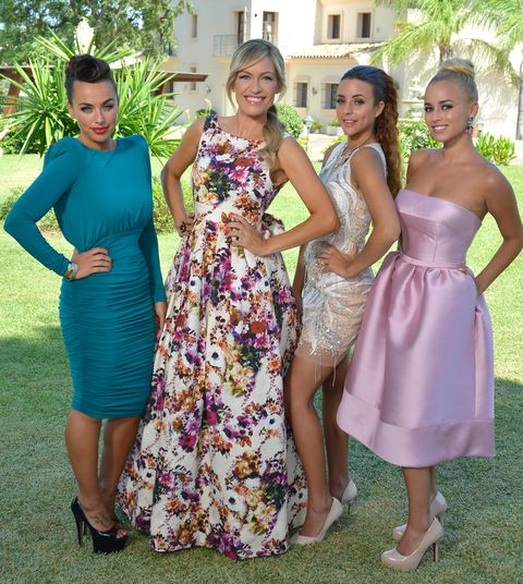 Clothing, Dress, Green, Shoulder, Outerwear, Formal wear, One-piece garment, Purple, Style, Summer,