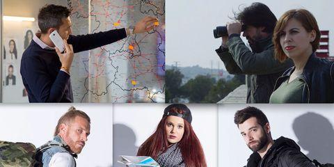Head, Human, Arm, Collage, Jacket, Digital camera, Single-lens reflex camera, Photographer, Camera, Camera accessory,