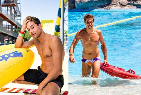 People on beach, board short, Fun, Barechested, Vacation, Trunks, Swimwear, Recreation, Leisure, Summer,