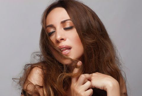 Hair, Face, Lip, Skin, Facial expression, Hairstyle, Nose, Beauty, Chin, Long hair,