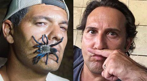 Face, Spider, Skin, Head, Eyebrow, Forehead, Nose, Arachnid, Human, Invertebrate,