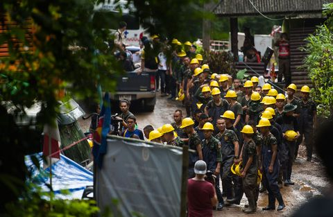 People, Yellow, Crowd, Military, Event, Adaptation, Marching, Plant, Personal protective equipment, Military organization,