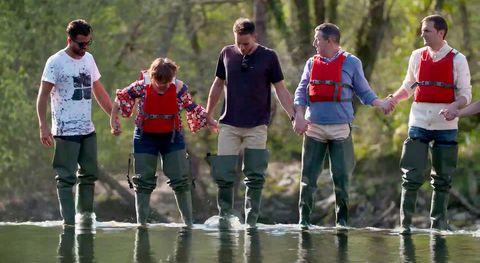 Walking, Water, Recreation, Team, Fun, Leisure, Pond, Child, Play,