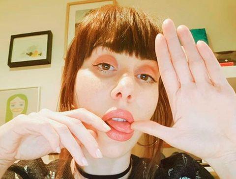 Face, Nose, Lip, Mouth, Cheek, Finger, Eye, Hand, Jaw, Selfie,