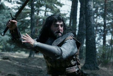 Human, Forest, Glove, Action film, Woodland, Armour, Beard, Viking, Action-adventure game, Fictional character,