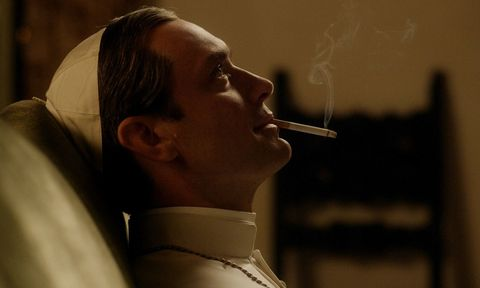 Chin, Forehead, Collar, Jaw, Dress shirt, Neck, Smoking, Tobacco products, Cigarette, Portrait,