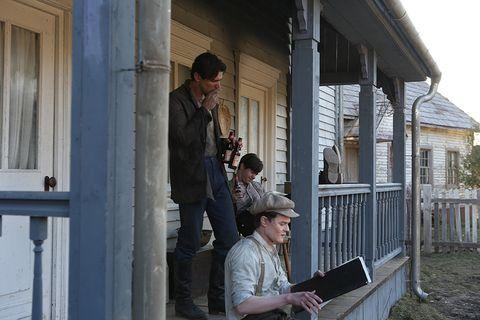 Hat, House, Porch, Home, Door, Home fencing, Fedora, Sun hat, Home door, Cottage,