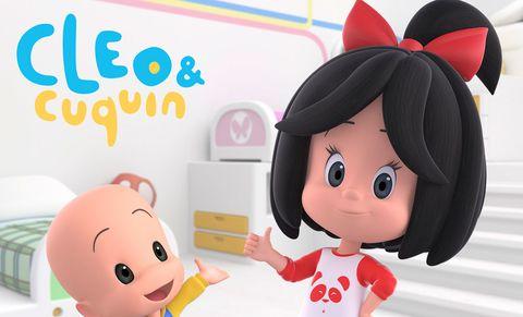 Cartoon, Skin, Cheek, Pink, Ear, Animated cartoon, Animation, Illustration, Child, Black hair,