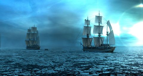 Vehicle, Tall ship, Sky, Boat, Watercraft, Sailing ship, Ship, Sail, Frigate, Calm,