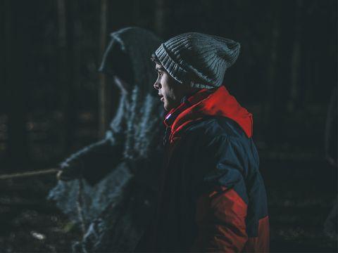 Darkness, Headgear, Night, Outerwear, Photography, Jacket, Smoke, Midnight,