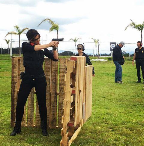 Wood, Standing, Shooting, Home fencing, Sporting clays, Shotgun, Air gun, Arecales, Shooting sport, Lumber,