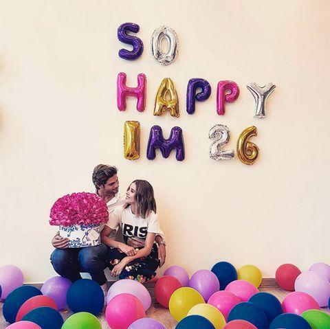 Balloon, Purple, Party supply, Party, Smile, Happy, Magenta,