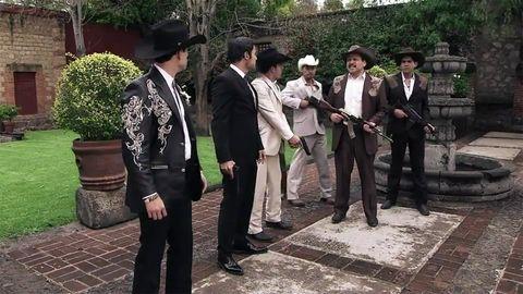 Hat, Suit trousers, Formal wear, Suit, Headgear, Uniform, Blazer, Shrub, Ceremony, Sun hat,