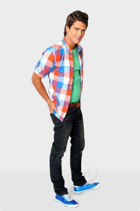 Clothing, Blue, Plaid, Dress shirt, Collar, Sleeve, Trousers, Denim, Shoulder, Shirt,