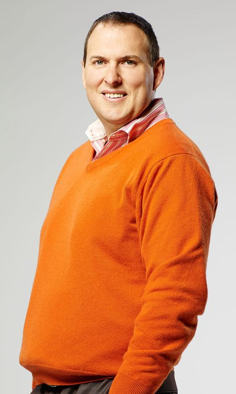 Collar, Sleeve, Shoulder, Standing, Orange, Neck, Pleased, Sweatshirt, Sweater, Laugh,